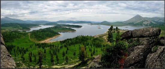 Maloulbinskoe reservoir, Ridder, Kazakhstan
