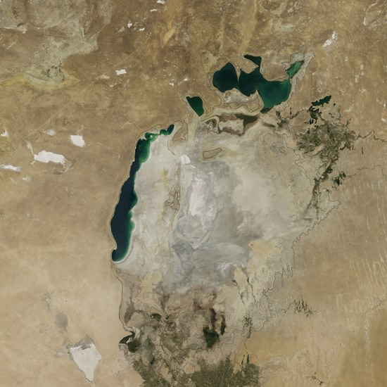 The Aral Sea in August 2014
