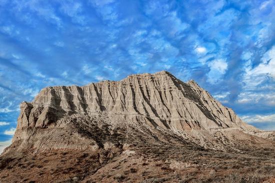 White cliffs of Aktolagay mountain ridge, Kazakhstan, photo 7