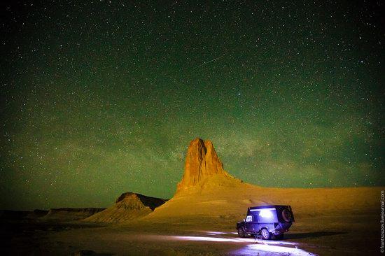 Sunset and night at Boszhira tract, Kazakhstan, photo 21