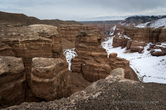Charyn Canyon in the cold season, Almaty region, Kazakhstan, photo 13