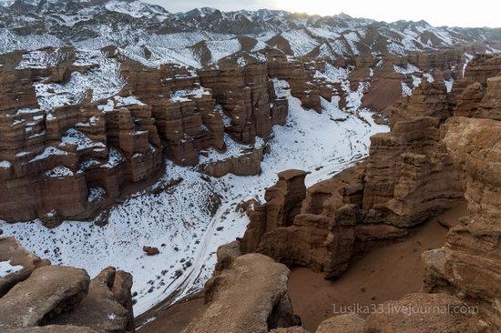 Charyn Canyon in the cold season, Almaty region, Kazakhstan, photo 14