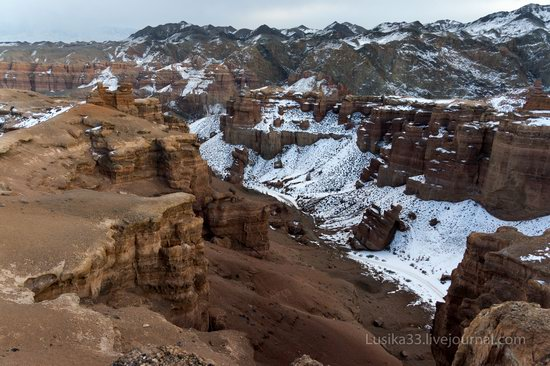 Charyn Canyon in the cold season, Almaty region, Kazakhstan, photo 15