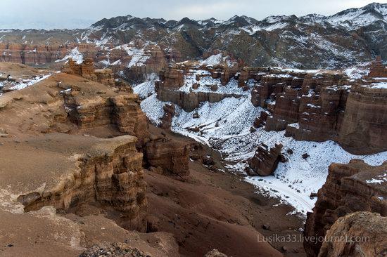 Charyn Canyon in the cold season, Almaty region, Kazakhstan, photo 15