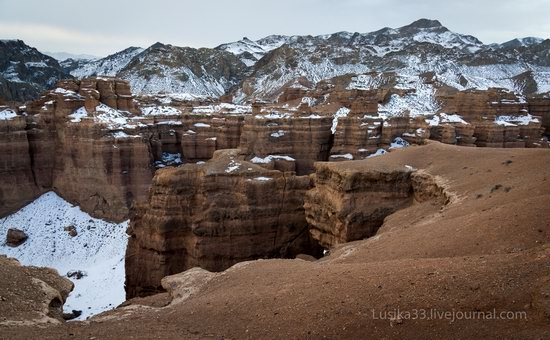Charyn Canyon in the cold season, Almaty region, Kazakhstan, photo 16