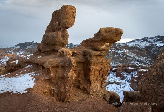 Charyn Canyon in the cold season, Almaty region, Kazakhstan, photo 17