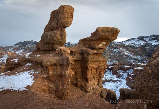 Charyn Canyon in the cold season, Almaty region, Kazakhstan, photo 17