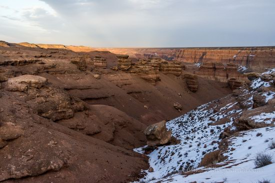 Charyn Canyon in the cold season, Almaty region, Kazakhstan, photo 18