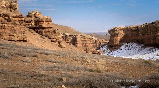 Charyn Canyon in the cold season, Almaty region, Kazakhstan, photo 2