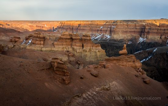 Charyn Canyon in the cold season, Almaty region, Kazakhstan, photo 20