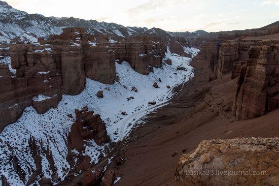 Charyn Canyon in the cold season, Almaty region, Kazakhstan, photo 21