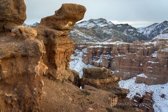 Charyn Canyon in the cold season, Almaty region, Kazakhstan, photo 22