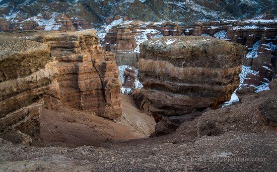 Charyn Canyon in the cold season, Almaty region, Kazakhstan, photo 23