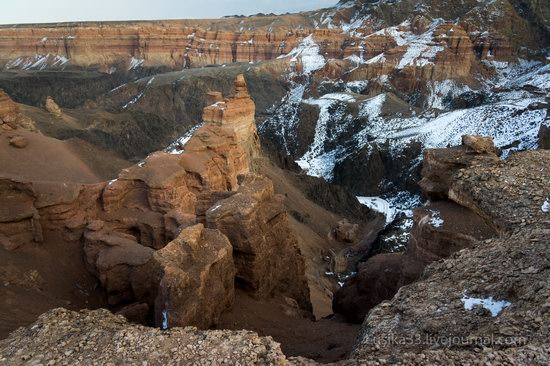 Charyn Canyon in the cold season, Almaty region, Kazakhstan, photo 24
