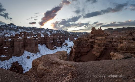 Charyn Canyon in the cold season, Almaty region, Kazakhstan, photo 25