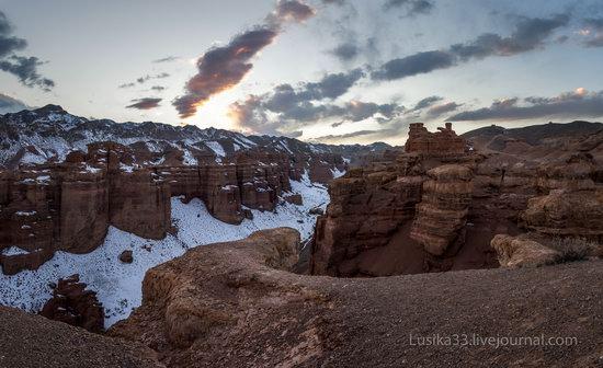 Charyn Canyon in the cold season, Almaty region, Kazakhstan, photo 25