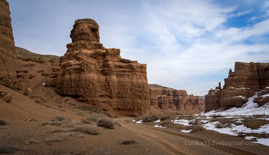 Charyn Canyon in the cold season, Almaty region, Kazakhstan, photo 3
