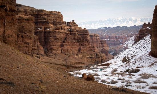 Charyn Canyon in the cold season, Almaty region, Kazakhstan, photo 5
