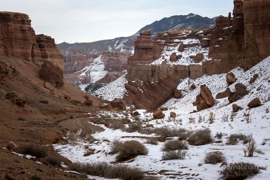 Charyn Canyon in the cold season, Almaty region, Kazakhstan, photo 8