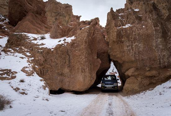 Charyn Canyon in the cold season, Almaty region, Kazakhstan, photo 9