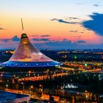 Astana at night – the views from the roofs