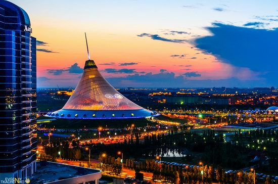 Astana at night, Kazakhstan, photo 1