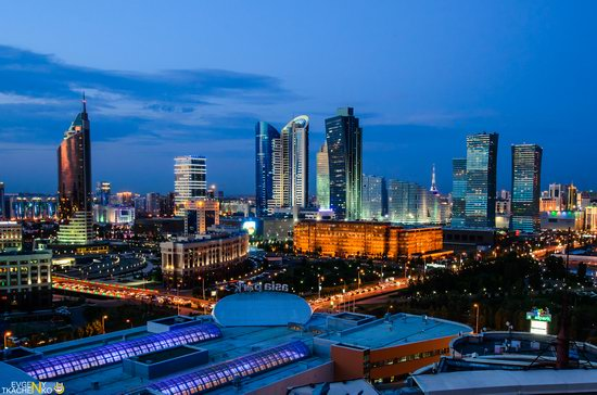 Astana at night, Kazakhstan, photo 2