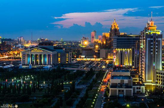 Astana at night, Kazakhstan, photo 3