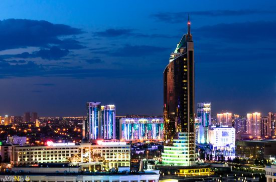 Astana at night, Kazakhstan, photo 4