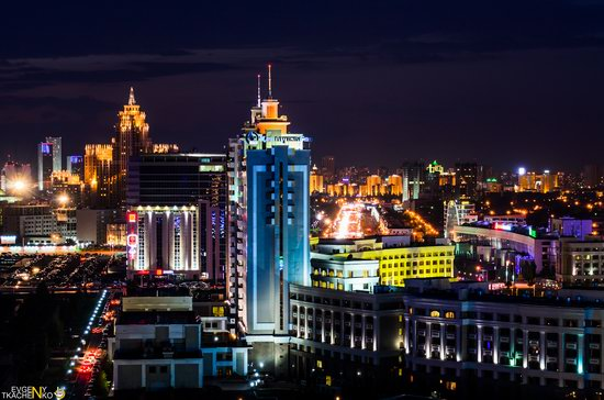 Astana at night, Kazakhstan, photo 5