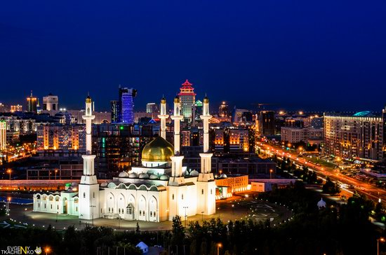 Astana at night, Kazakhstan, photo 6
