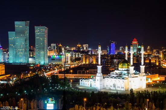 Astana at night, Kazakhstan, photo 8