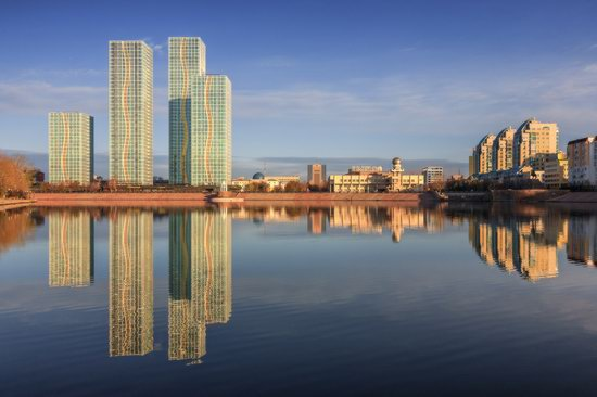 Astana in reflections, Kazakhstan, photo 1