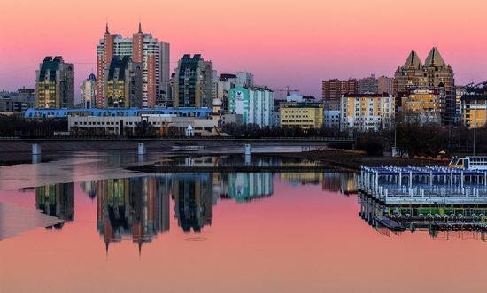 Astana in reflections, Kazakhstan, photo 10