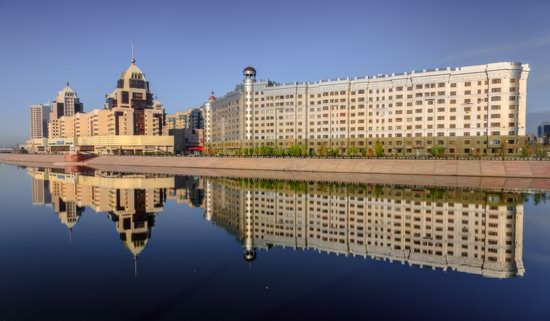 Astana in reflections, Kazakhstan, photo 4