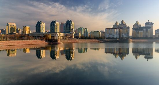 Astana in reflections, Kazakhstan, photo 5