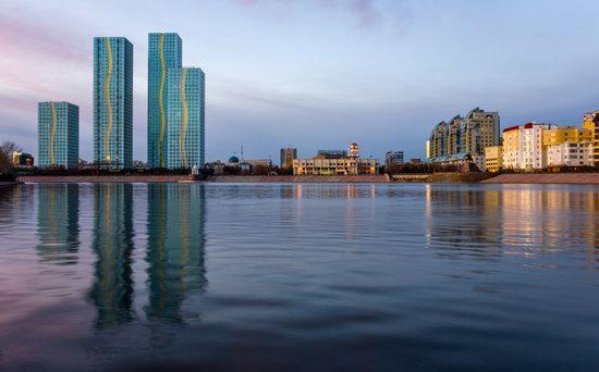 Astana in reflections, Kazakhstan, photo 6