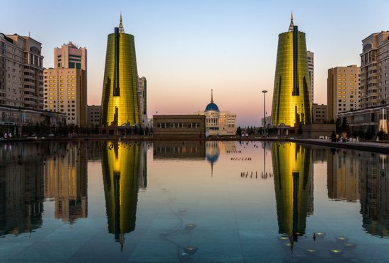 Astana in reflections, Kazakhstan, photo 8