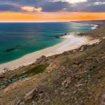 Beach in Golubaya Bay – a wonderful site on the Caspian coast