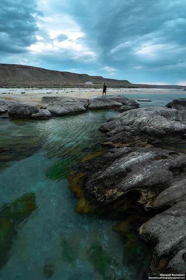 Beach in Golubaya Bay – a wonderful site on the Caspian ...
