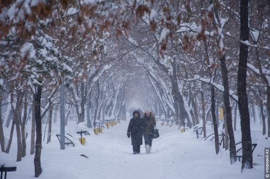Almaty after heavy snowfall, Kazakhstan, photo 14