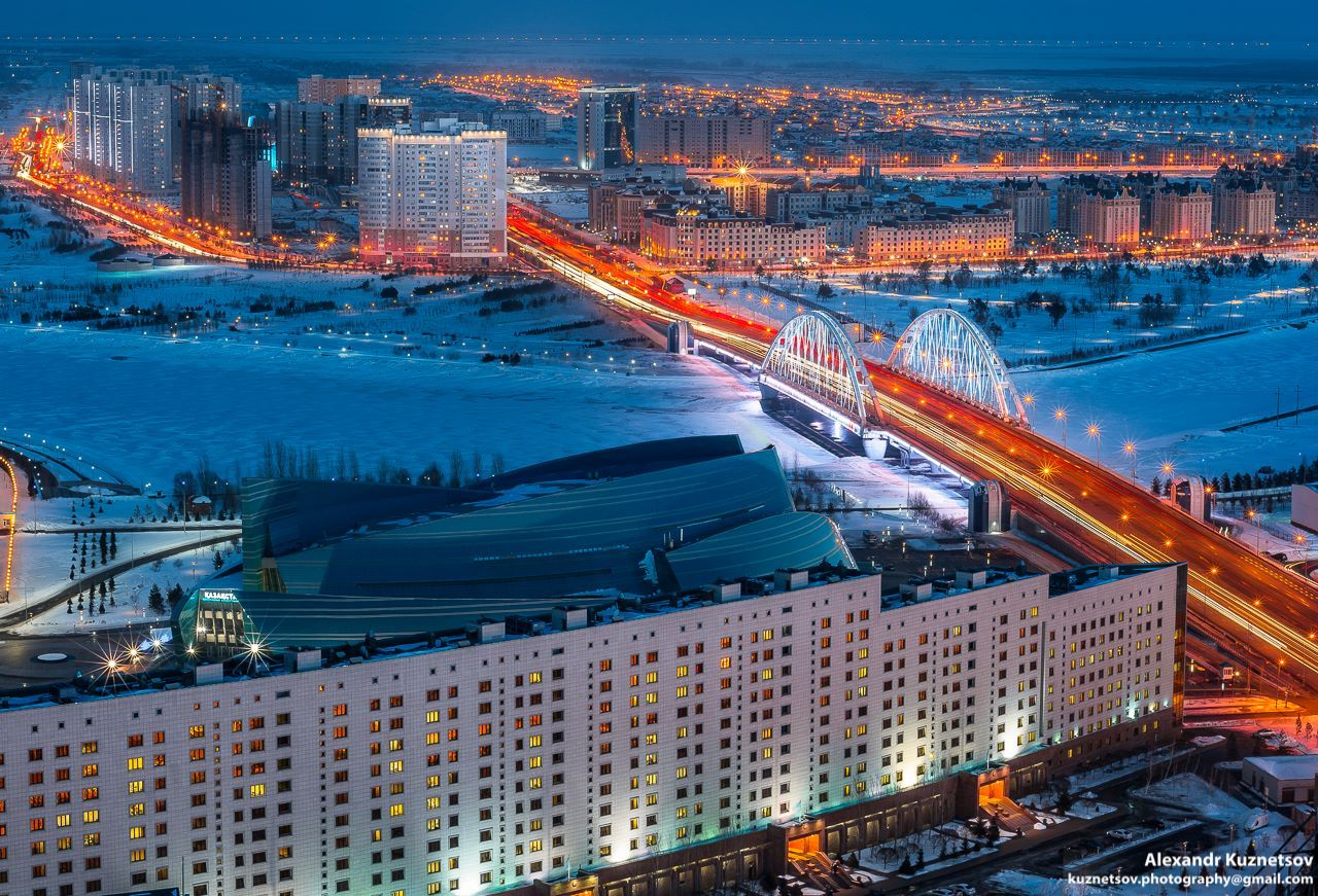 Astana - the view from a height of 150 meters · Kazakhstan ...