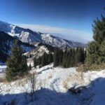 Climbing Mount Furmanova near Almaty