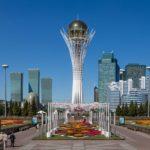 Walking through the center of Astana