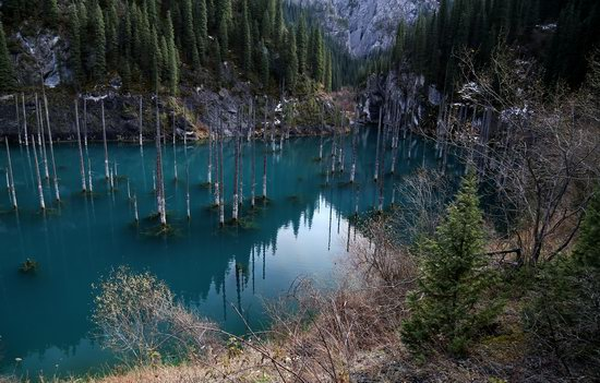 Sunken Forest of Lake Kaindy, Kazakhstan, photo 1