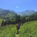 Hiking in Gorelnik Gorge in the vicinity of Almaty