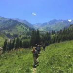 Hiking in Gorelnik Gorge in the vicinity of Almaty