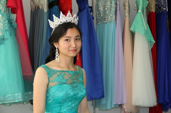 Kazakh girl evening dress