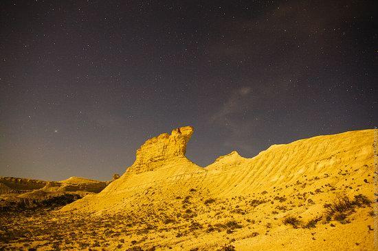 Bizarre Chalk Cliffs of Akkergeshen Plateau, Atyrau Oblast, Kazakhstan, photo 12