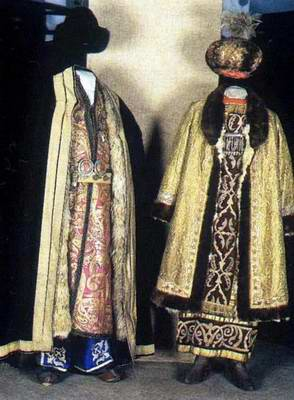 Kazakhstan people national clothes: traditional costumes